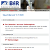 Ein Screenshot vom BfR-Newsletter